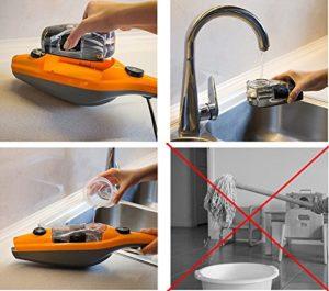 Dampfbesen Test Aqua Eco Gold Dampfreiniger Dampfmop Handdampfreiniger Dampfbesen - 7
