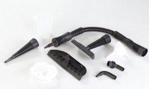 Fensterdampfreiniger Defort Dampfreiniger mit 1200 W und 3 bar Druck, Spitzdüse, Verlängerungsschlauch mit Düse, Messbecher, Einfülltrichter, Rundbürste, Winkeldüse, DSC-1200 - 2