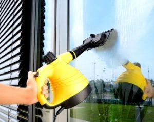 Fensterdampfreiniger Sichler Haushaltsgeräte Tragbarer Dampfreiniger mit großem Zubehör-Pack, 1.000 W - 4
